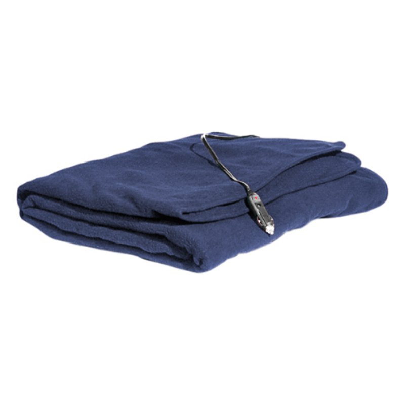 MAXSA INNOVATIONS 20013 Comfy Cruise Heated Travel Blanket (Navy Blue)