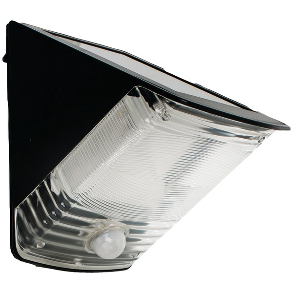 MAXSA INNOVATIONS 40236 Solar-Powered Motion-Activated Wedge Light (Black)
