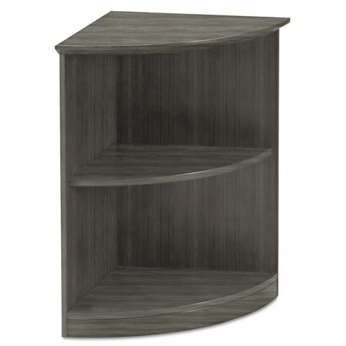 Medina Series Quarter Round Two-Shelf Bookcase, 20w x 20w x 29 1/2h, Gray Steel