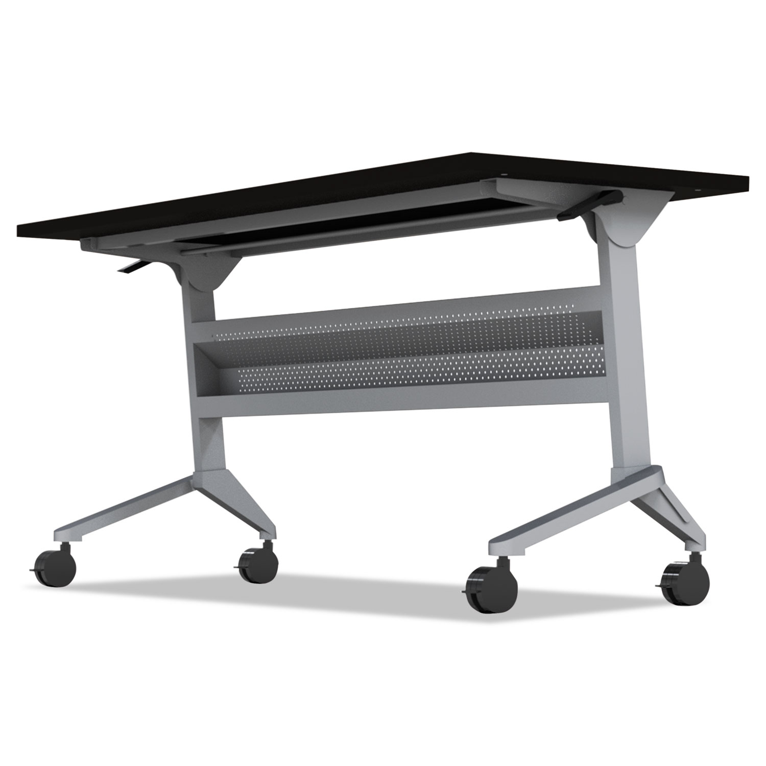 Flip-n-Go Table Base, 46 7/8w x 21 1/4d x 27 7/8h, Silver
