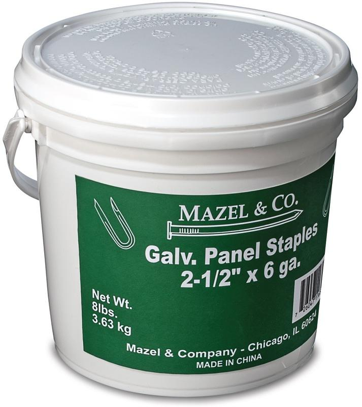 8# PAIL2-1/2 IN. GALV PANE STAPLES