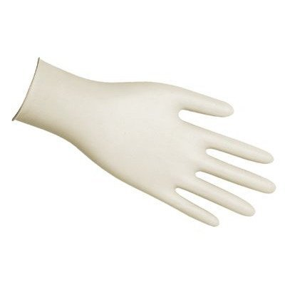 Disposable Latex Gloves, Medium, 5 mil, Powder-Free, Industrial-Grade