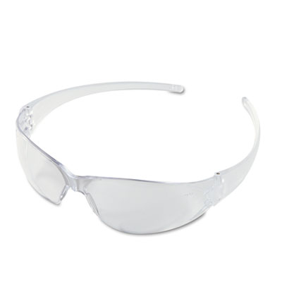 MCR Safety Checkmate Wraparound Safety Glasses, CLR Polycarbonate Frame, Coated Clear Lens per BX