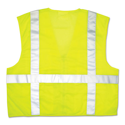 Luminator Safety Vest, Lime Green w/Stripe, X-Large