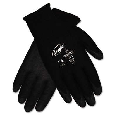 Ninja HPT PVC Coated Nylon Gloves, Medium, Black, 12 Pair/Box