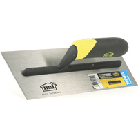 M-D Building 20051 Premium Tile Installation Trowel, 4-1/2 in W x 11 in L Steel Blade Thermoplastic Rubber Handle