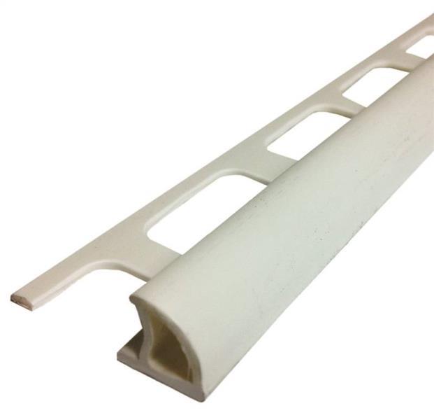 BULLNOSE 5/16INX8FT PVC WHITE