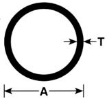 ALUMINUM TUBE RND 1X.055X72