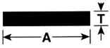 M-D 61036 Flat Bar, 1/2 in W x 72 in L x 1/8 in T, Anodized Aluminum, Mill