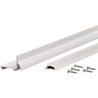 M-D Ultra L-Shape Door Bottom with Vinyl Insert, Dry Cap, 48 in L x 1-3/4 in W, White