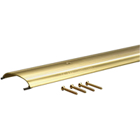 M-D Ultra Low Dome All Purpose Top Threshold, 36 in L x 3-1/2 in W x 5/8 in H, Aluminum, Gold