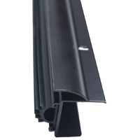 M-D Ultra 80630 U-Shape Door Bottom with Vinyl Insert, Dry Cap, 36 in L x 1-3/8 in W
