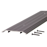 M-D Ultra 68346 Fluted Saddle Threshold, 36 in L x 5 in W x 1/2 in H, Aluminum