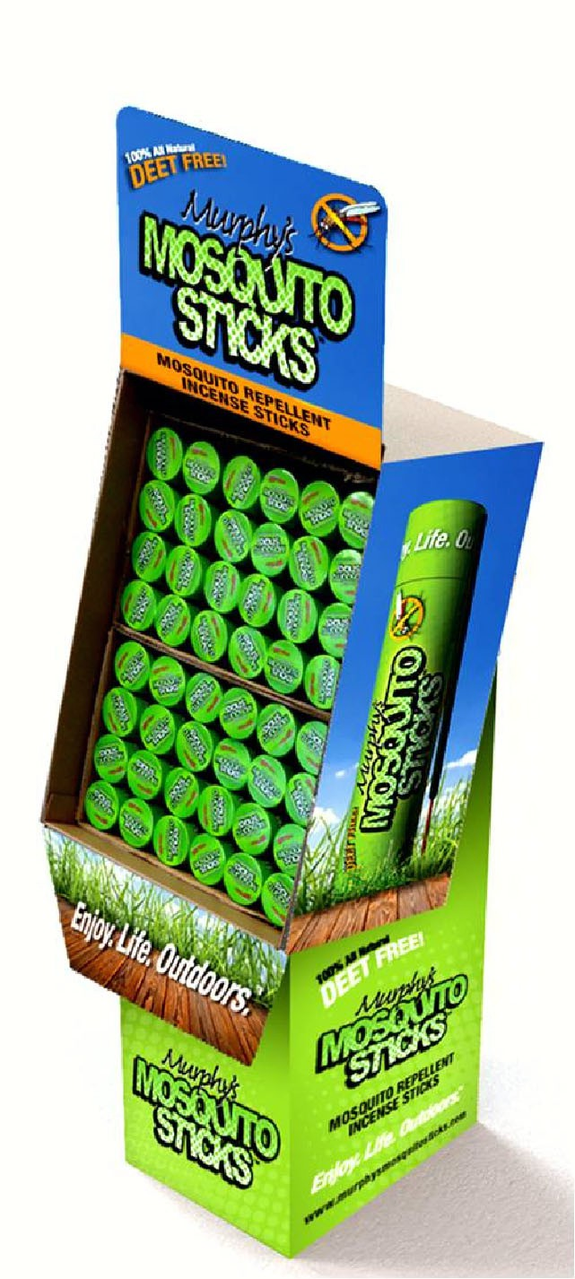 Murphy's Mosquito Sticks Floor Display (48 pcs)