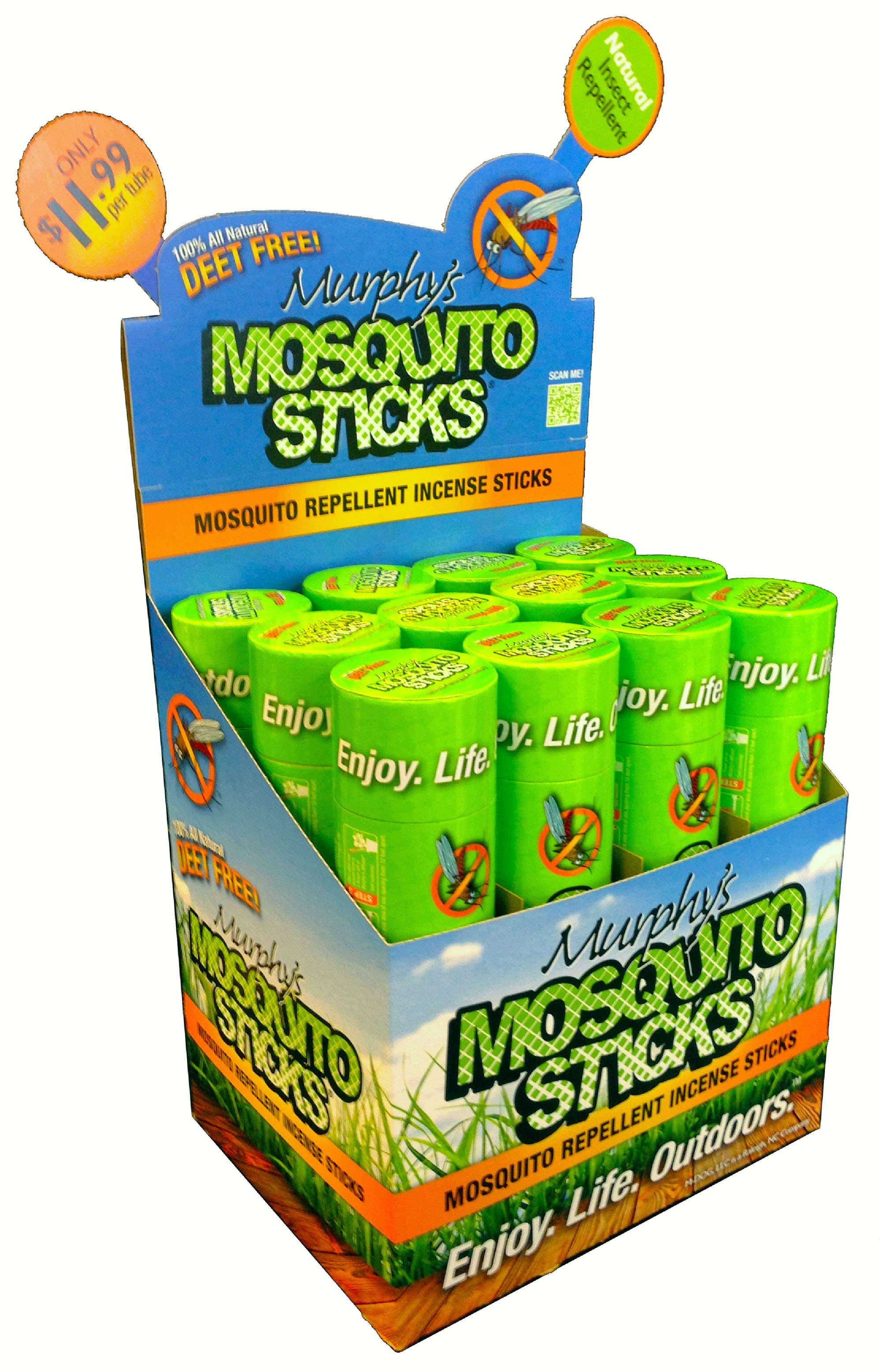 Murphy's Mosquito Sticks Tabletop Display (12 pcs)