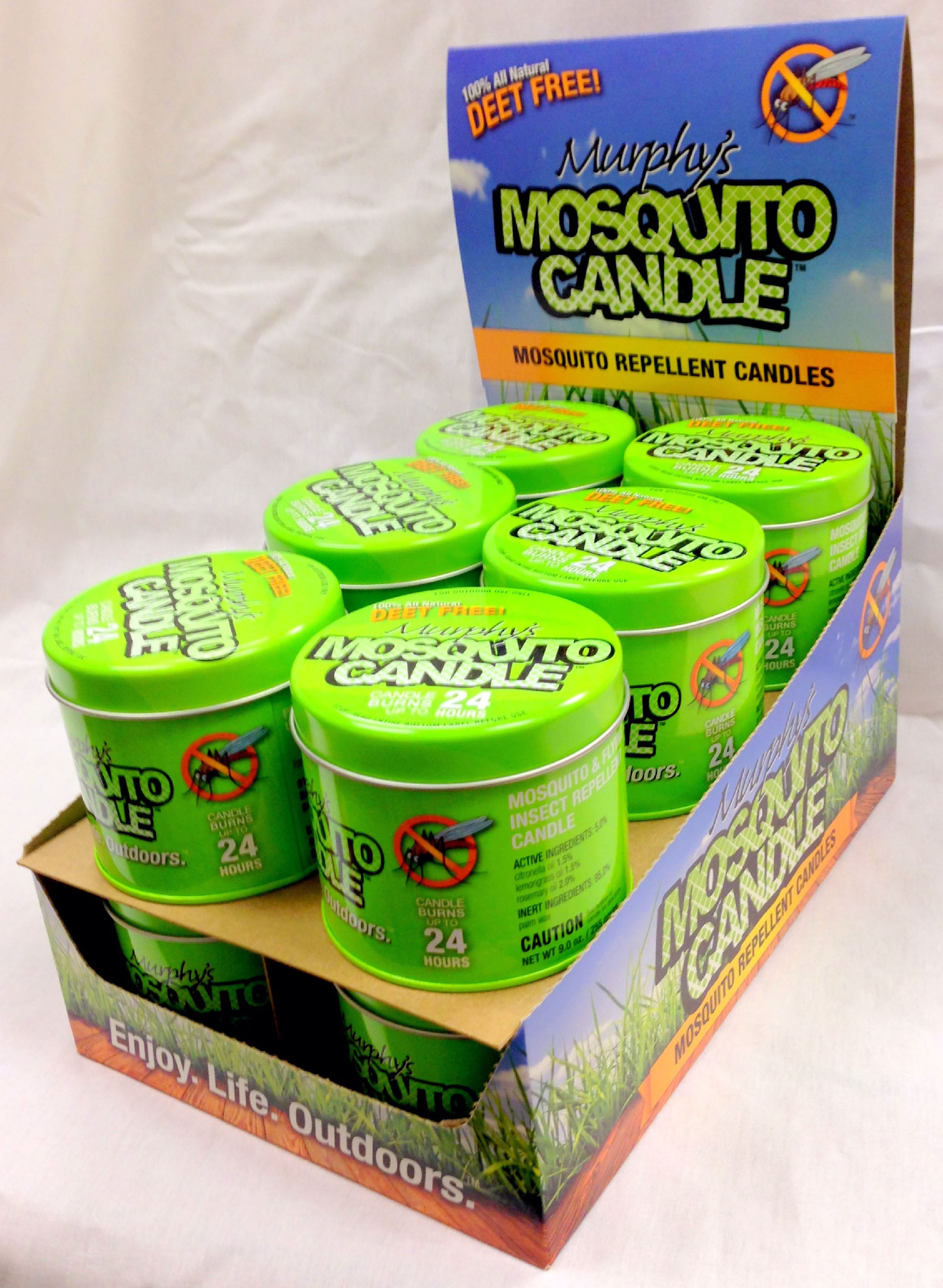 Murphy's Mosquito Candle Tabletop Display (12 pcs)