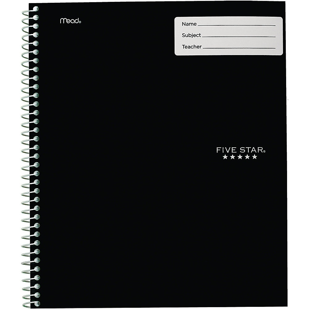 Interactive Notebook, 1 Subject, Wide Rule, Assorted Cover Colors, 11 x 8.5, 100 Sheets