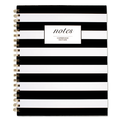 Black & White Striped Hardcover Notebook, 11 x 8 7/8, 80 Sheets