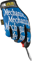 MECHANIXWEAR Mechanix Wear+ Large Blue And Black Original+ Full Finger Synthetic Leather, Spandex And Rubber Mechanics Gloves With Hook and L ...
