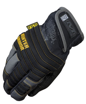 Mechanix Wear� 2X Black And Gray Winter Armor Nylon Fleece Lined Cold Weather Gloves With Double Reinforced Thumb, Hook And Loop