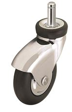 NEOTEQ CASTER, CHROME, 2 IN., SWIVEL, 125 LBS CAPACITY