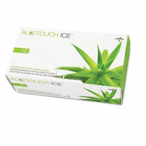 Aloetouch Ice Nitrile Exam Gloves, Small, Green, 200/Box
