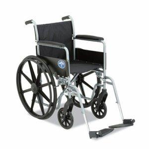 Excel K1 Basic Wheelchair, 18w x 16d, 300lb Cap