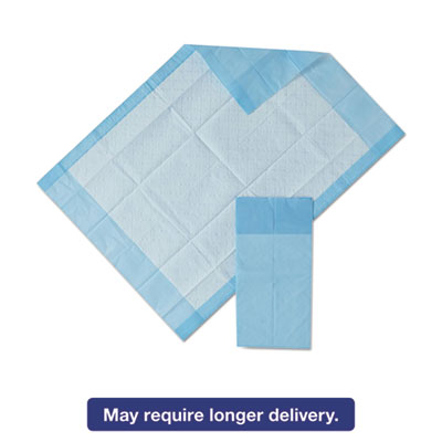 Protection Plus Disposable Underpads, 17 x 24, Blue, 25/Bag