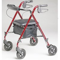ROLLATOR BURGUNDY ULTRALIGHT