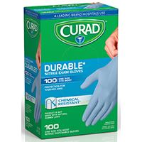 Curad CUR4145R Exam Gloves, Nitrile, Blue
