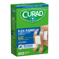 Curad CUR45246 Latex Free Adhesive Bandage, 20 Sterile Assorted, Fabric, Brown
