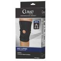 Curad ORT23260D Latex Free Universal Knee Support, 7 in L x 4 in W x 3 in H 10-1/4 in L, Neoprene