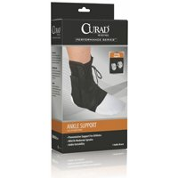 Curad ORT27600LD Latex Free Ankle Splint, 10-1/2 in L x 2 in W x 4-1/2 in H, Vinyl, Black