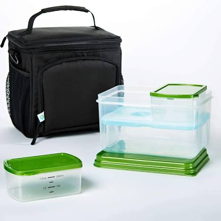 FIT & FRESH7094LTGKIT INSULATED MEAL PREP BAG WITH LEAK PROOF