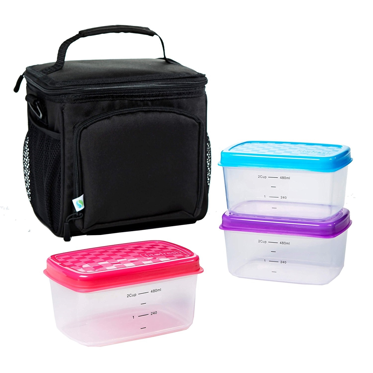 FIT & FRESH 7094LPKIT INSULATED MEAL PREP BAG WITH LEAK PROOF