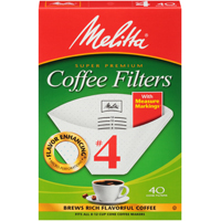 FILTER COFFEE CONE NO4 WH 40CT