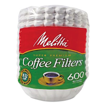 Basket Style Coffee Filters, Paper, 8 to 12 Cups, 7200/Carton