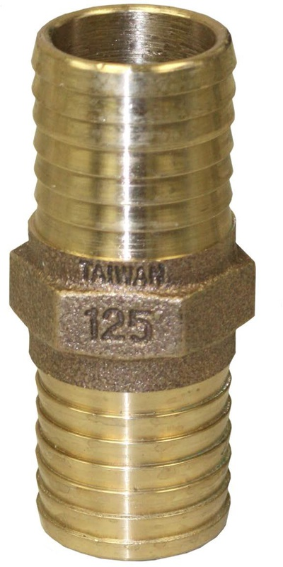 RBCPNL125 1-1/4 IN. BRS COUPLING