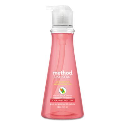 Dish Soap Pump, Pink Grapefruit Scent, 18 oz Pump Bottle, 6/Carton