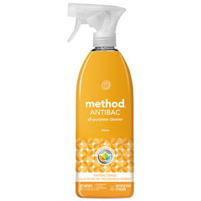 Antibac All-Purpose Cleaner, Citron Scent, 28 oz Plastic Bottle