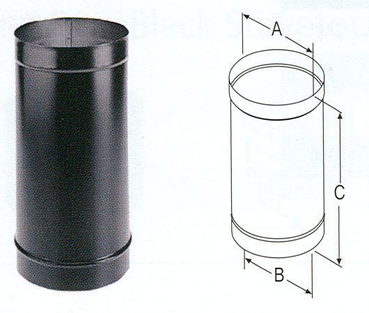 8Dbk-24 8X24 Single Wall Stove Pipe