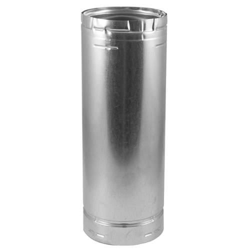 "6"" x 48"" Type B Gas Vent, .012"" Aluminum Inner Liner, .018 Galvanized Outer"