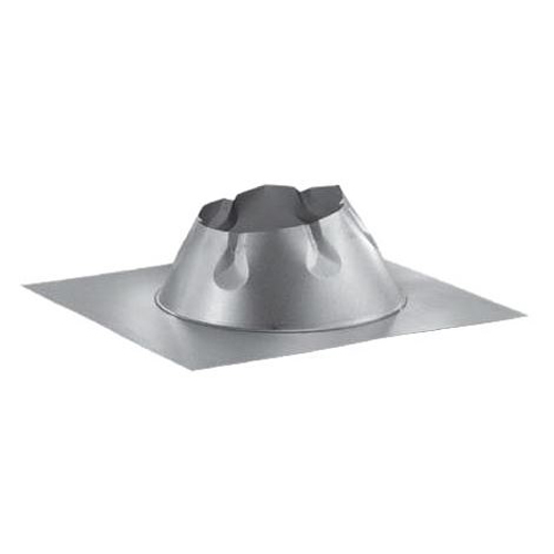 "6"" Dura Vent Duratech Flashing, Flat Roof, Galvanized, Storm Collar Not Included"