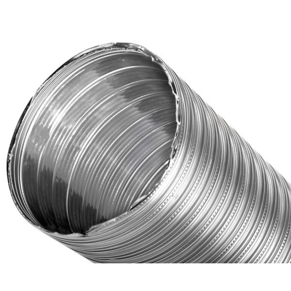 "6"" x 20' DuraFlex SW Smooth Wall Liner, 2-ply 316Ti Stainless Steel"