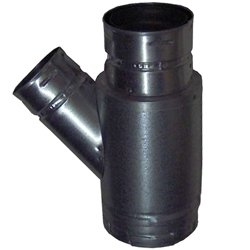 """5"""" Type B Gas Vent Wye, Double Wall With 45 Degree 4"""" Branch"""