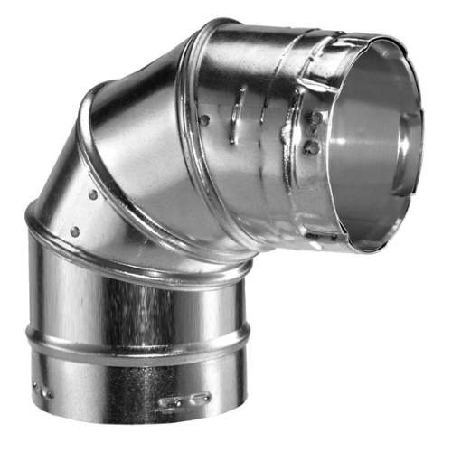 "8"" Type B Gas Vent 90 Degree Adjustable Elbow"
