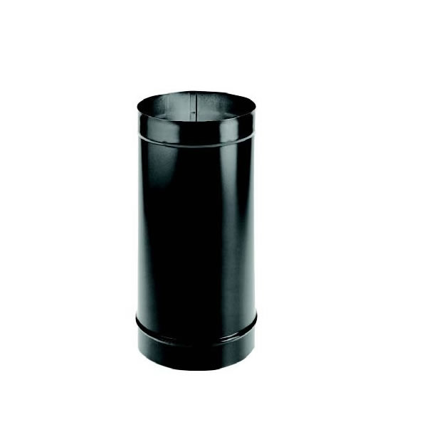 "10"" x 24"" Dura-black 24-ga Welded Black Stovepipe"
