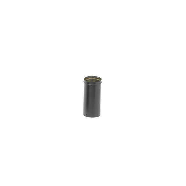 "10"" Dura-black 24-ga Welded Black Stovepipe Slip Connector, 14"" Long With 10"" Of Adjustment"