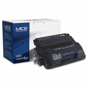 Compatible with Q5942XM High-Yield MICR Toner, 20,000 Page-Yield, Black