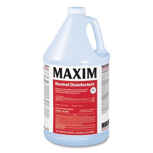 Neutral Disinfectant, Lemon Scent, 1 gal Bottle, 4/Carton